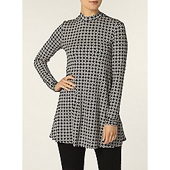 Dorothy Perkins - Black and ivory circle tunic
