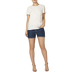 Dorothy Perkins - Ivory embroided soft t-shirt