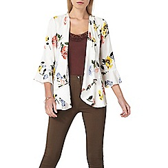 Dorothy Perkins - Cream floral cover up jacket