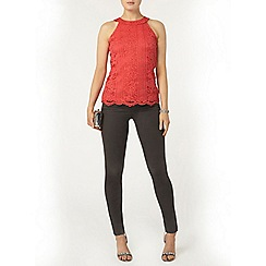 Dorothy Perkins - Coral lace top
