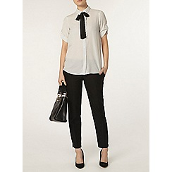 Dorothy Perkins - Ivory dotty frill shirt