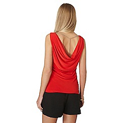 Dorothy Perkins - Red chain back top