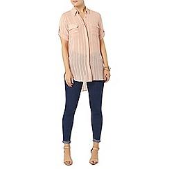 Dorothy Perkins - Apricot shimmer stripe shirt