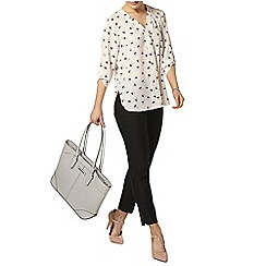 Dorothy Perkins - Sping leaf 'notch neck' shirt