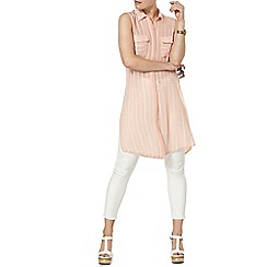 Dorothy Perkins - Nude shimmer sleeveless top