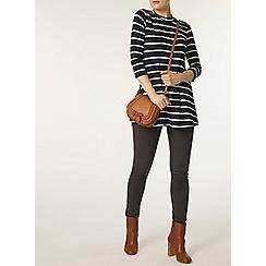 Dorothy Perkins - Navy stripe jersey tunic