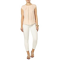 Dorothy Perkins - Nude lace wrap back t-shirt