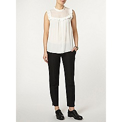 Dorothy Perkins - Ivory lace mix sleeveless top