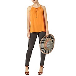 Dorothy Perkins - Orange tie metal camisole top