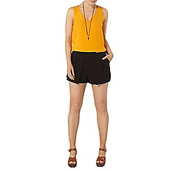 Dorothy Perkins - Orange v neck shell top