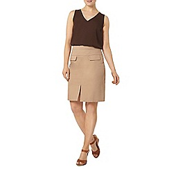 Dorothy Perkins - Chocolate v neck shell top