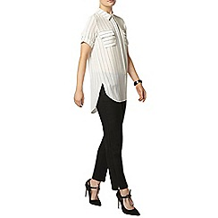 Dorothy Perkins - Ivory stripe longline shirt