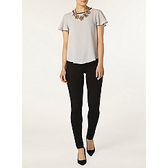 Dorothy Perkins - Silver contrast tip soft t-shirt