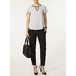 Dorothy Perkins - Silver keyhole soft t-shirt