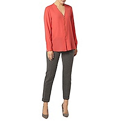 Dorothy Perkins - Strawberry zip front top