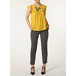 Dorothy Perkins - Ocre ruffle front soft t-shirt