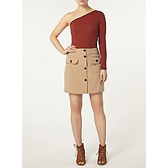 Dorothy Perkins - Rust one shoulder body