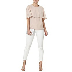 Dorothy Perkins - Blush embellished cape top