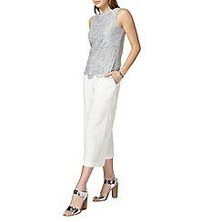 Dorothy Perkins - Grey lace shell top