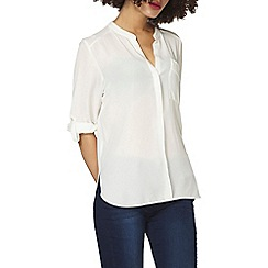 Dorothy Perkins - Ivory non collar one pocket top