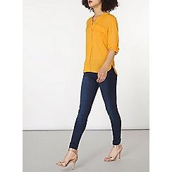 Dorothy Perkins - Sunflower non collar one pocket top