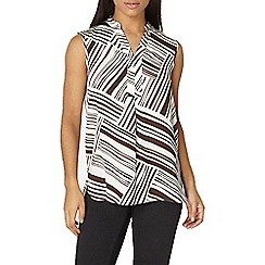 Dorothy Perkins - Brown stripe sleeveless shirt