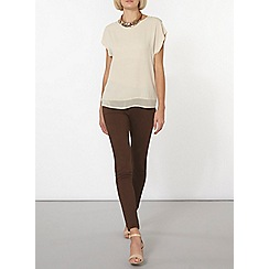 Dorothy Perkins - Stone button back t-shirt