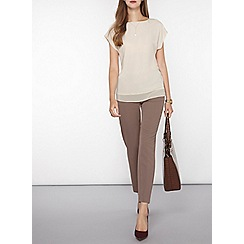Dorothy Perkins - Stone button back woven t-shirt