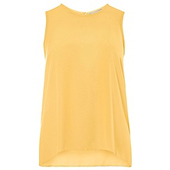 Dorothy Perkins - Yellow dip back shell top