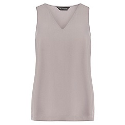 Dorothy Perkins - Mocha v neck shell top