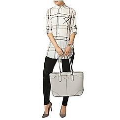 Dorothy Perkins - Ivory check longline shirt