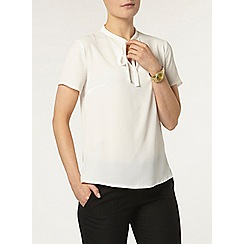 Dorothy Perkins - Ivory pussybow tie neck tee
