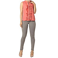 Dorothy Perkins - Coral ruffle front sleeveless blouse