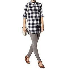 Dorothy Perkins - Navy checked longline shirt
