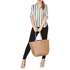Dorothy Perkins - Neutral stripe collar shirt
