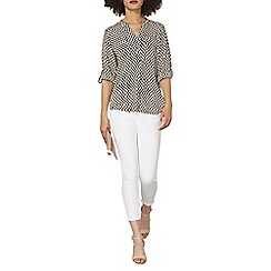 Dorothy Perkins - Geometric non collar 1 pocket shirt