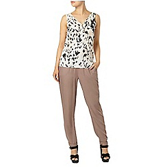 Dorothy Perkins - Animal print zip front vest