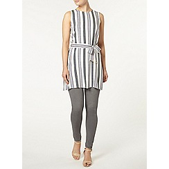 Dorothy Perkins - Lime stripe tunic