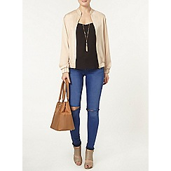 Dorothy Perkins - Gold satin bomber jacket