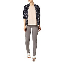 Dorothy Perkins - Navy and white floral bomber