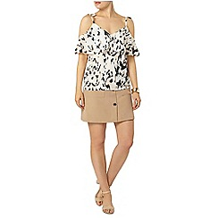 Dorothy Perkins - Animal print cold shoulder
