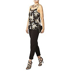 Dorothy Perkins - Black floral lace cami top