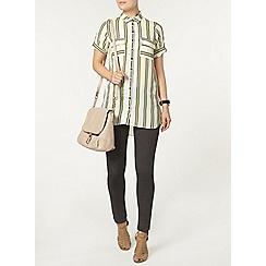 Dorothy Perkins - Lime stripe longline tunic