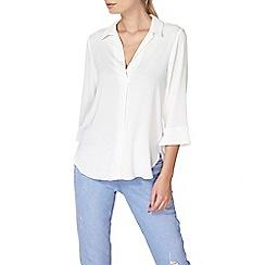 Dorothy Perkins - Ivory collar deep v shirt