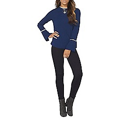 Dorothy Perkins - Navy long sleeve wide cuff top