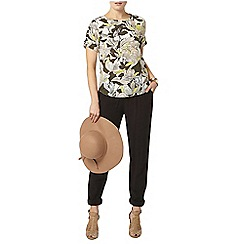 Dorothy Perkins - Khaki lime tropical print tee