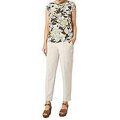 Dorothy Perkins - Tropical floral wrapback t-shirt