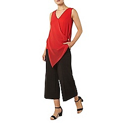 Dorothy Perkins - Red wrap side buckle top