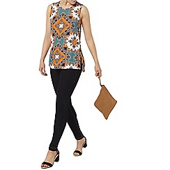 Dorothy Perkins - Tile print side zip top