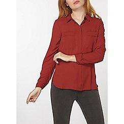 Dorothy Perkins - Collard double pocket shirt
